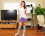 Cutie in socks