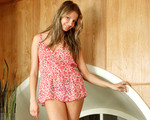 Sandy blonde haired teen